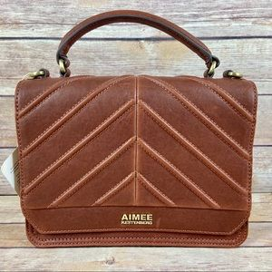 Aimee Kestenberg Mia Leather Chevron Crossbody Bag